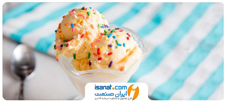 طرح توجیهی تولید بستنی، شیر و خامه