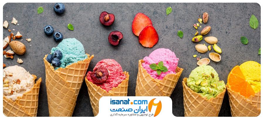 طرح توجیهی تولید بستنی میوه ای