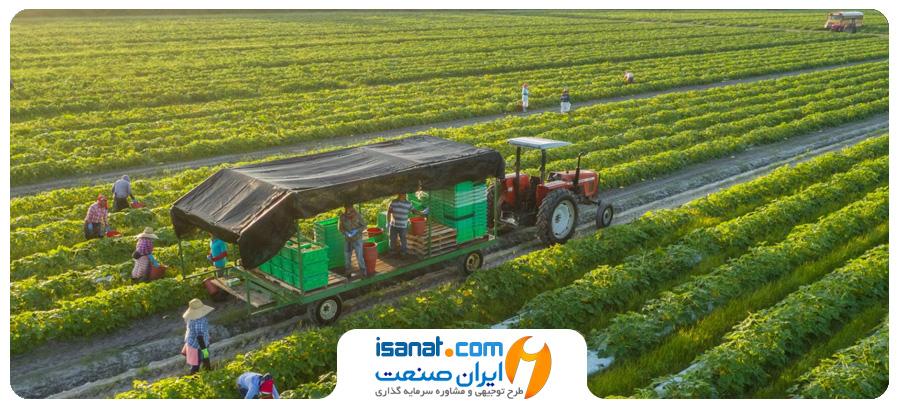 طرح توجیهی احداث مجتمع کشاورزی