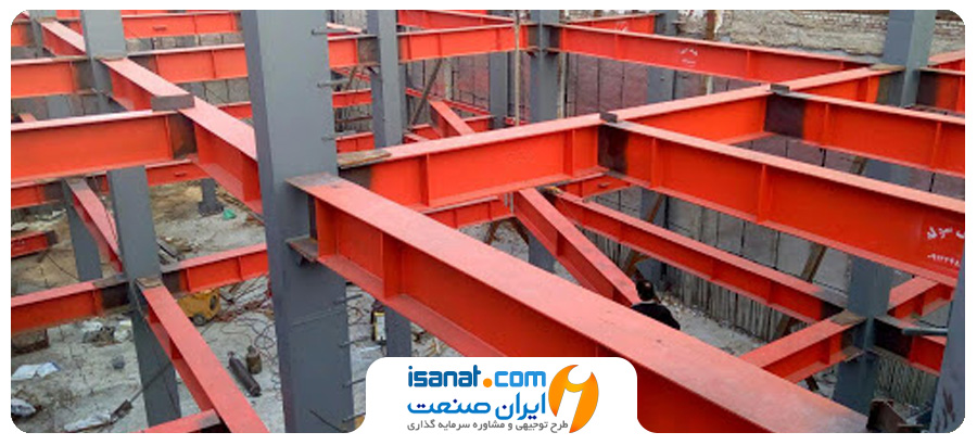 طرح توجیهی تولید اسکلت فلزی و سازه های پیچ و مهره ای